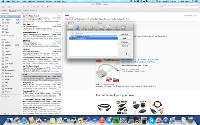 how to set up out of office on mac mail