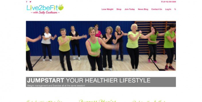 Live2BeFit Website