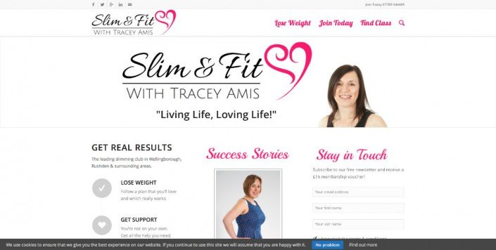 Slim and Fit Classes Website