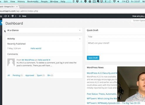 Finding your way round the Wordpress Interface
