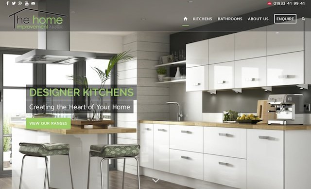 Kitchen Showroom Comapny Website in Rushden