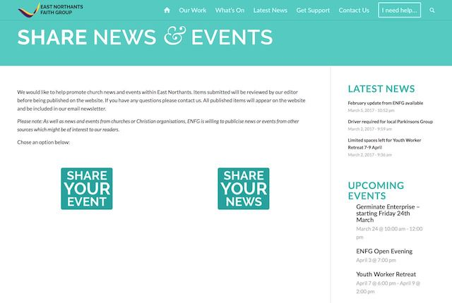 Share your news or events