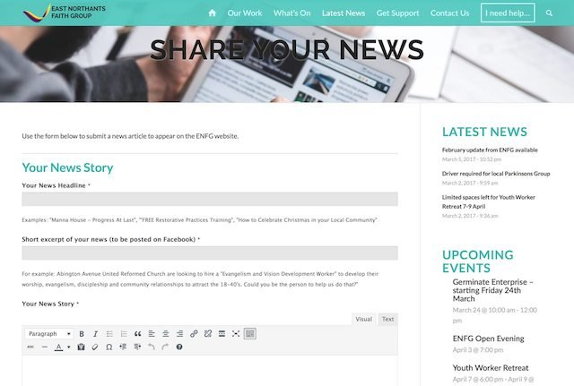 Share your news form