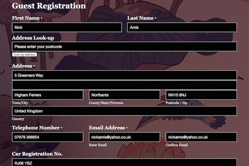 Old House Guest Registration Form 2